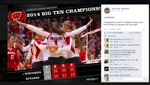Photo by Patrick S Blood/PSB Foto Congratulations to the Badgers as they claim Big Ten Volleyball Title!